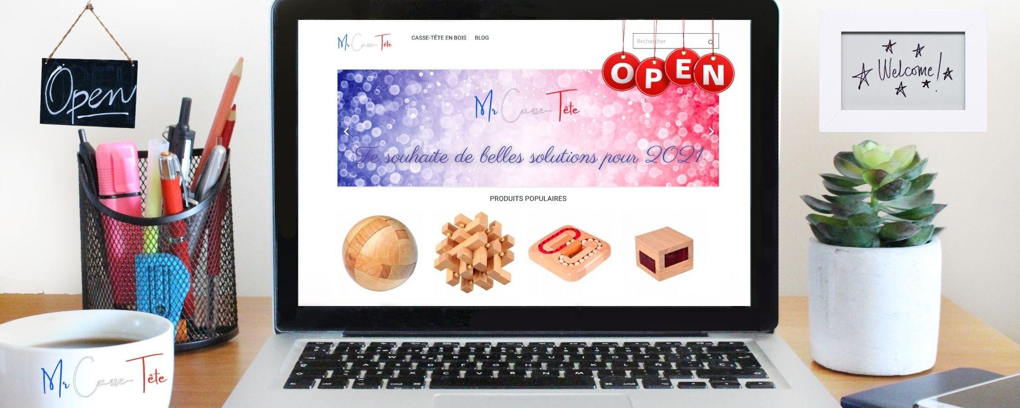01/01/21 - Mr Casse-Tête ouvre sa boutique !