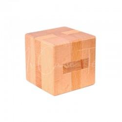 Casse-Tête en Bois : Le Cube (bois de hêtre)