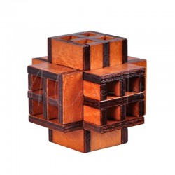Casse-Tête en Bois : Le Cube en Croix